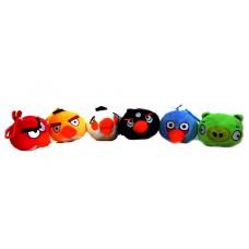 Набор птичек 10 cм 5 штук + свинка Коллекция игрушек Angry Birds